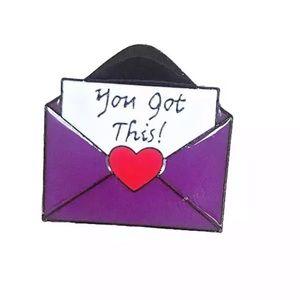 You Got This Enamel Pin Purple Envelope Love Note